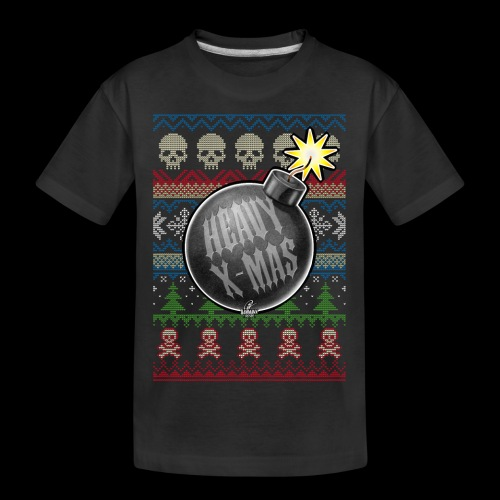 Heavy X-Mas Christbaumkugel-Bombe - Teenager Premium Bio T-Shirt