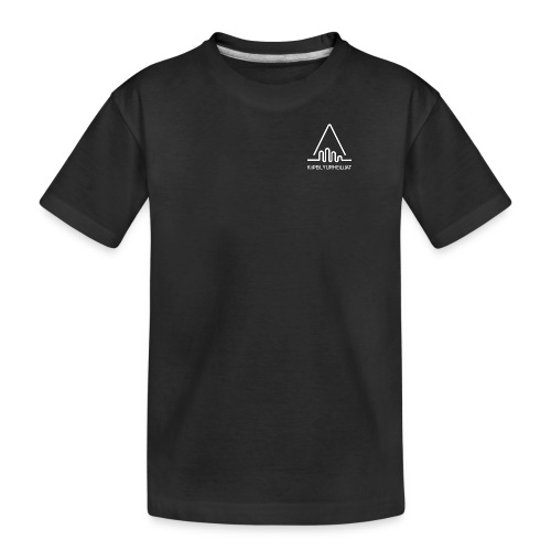 'Kiipeilyurheilijat' Logo White - Teinien premium luomu-t-paita