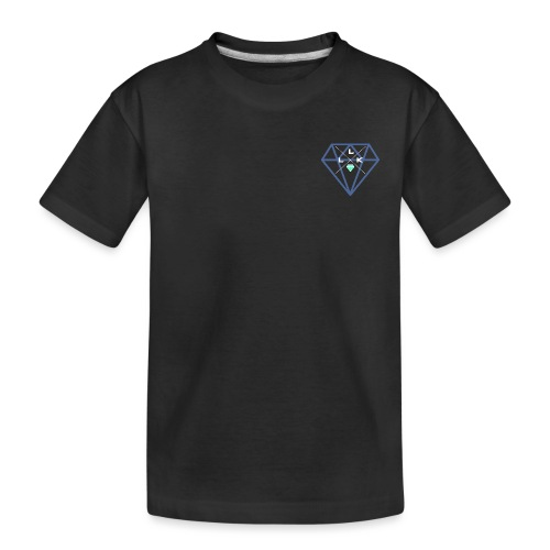 LLK Logo mit FarbDiamant Weiss - Teenager Premium Bio T-Shirt