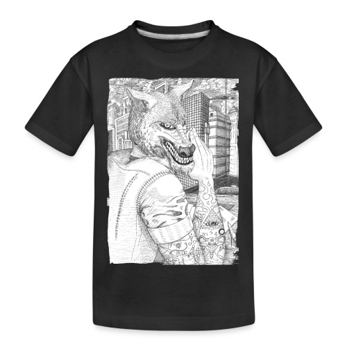 Wolf in Mankind - Teenager Premium Bio T-Shirt