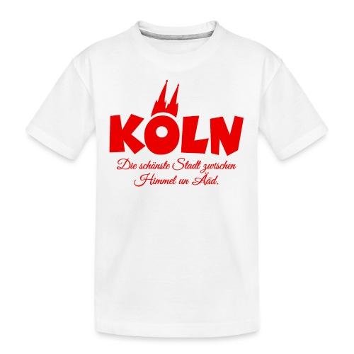Köln schönste Stadt zwischen Himmel un Ääd (Rot) - Teenager Premium Bio T-Shirt