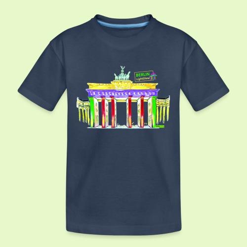 Berlin/Brandenburger Tor/PopArt/BerlinLightShow - Teenager Premium Bio T-Shirt
