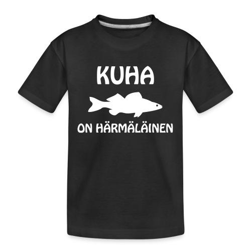KUHA ON HÄRMÄLÄINEN - Teinien premium luomu-t-paita