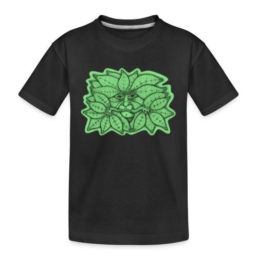 Green Man for Pagan Global Warming/Climate Change - Teenager Premium Organic T-Shirt