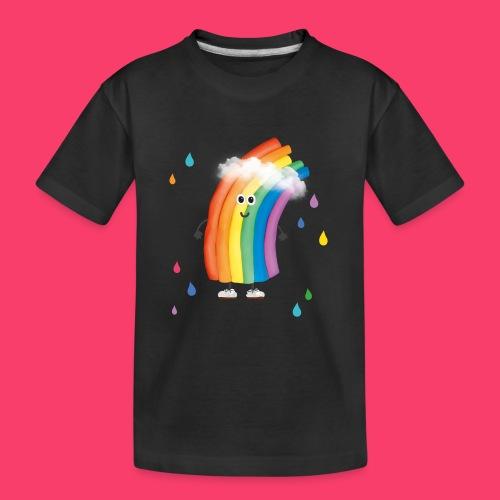Rudi Regenbogen bunte Regentropfen - Teenager Premium Bio T-Shirt