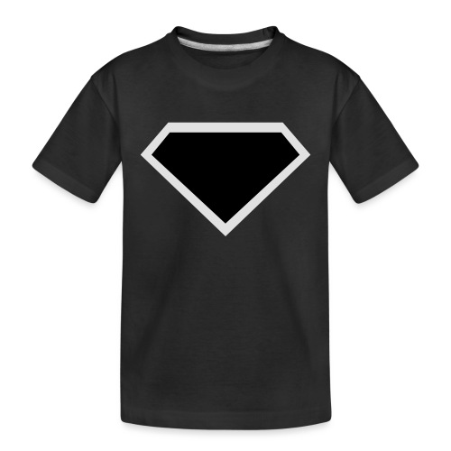 Diamond Black - Two colors customizable - Teenager premium biologisch T-shirt