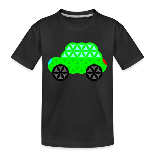 The Car Of Life - M01, Sacred Shapes, Green/R01. - Teenager Premium Organic T-Shirt