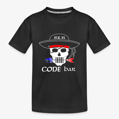 Code Bar white - T-shirt bio Premium Ado
