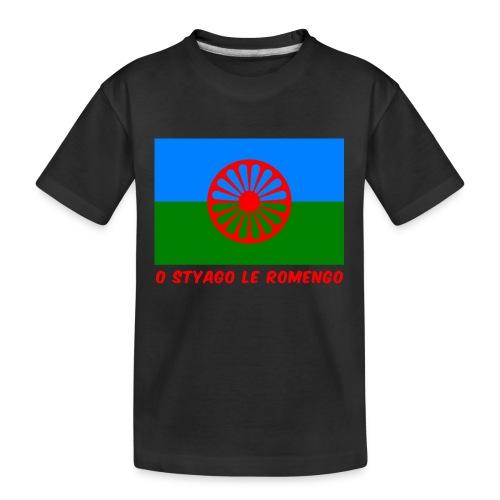 o styago le romengo flag of romani people t-shirt - Maglietta ecologica premium per ragazzi