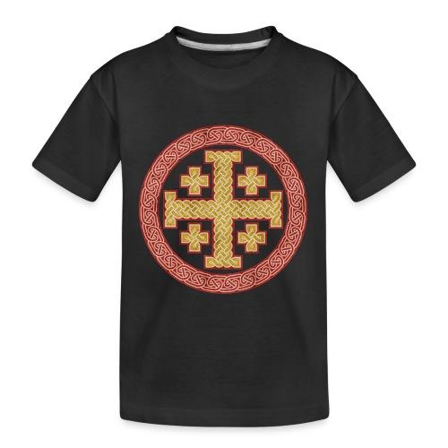Jerusalem Style Celtic Cross - Teenager Premium Organic T-Shirt