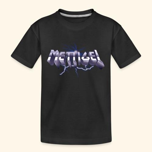 Mettigel T Shirt Design Heavy Metal Schriftzug - Teenager Premium Bio T-Shirt