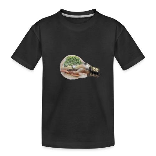 Baum und fliege in einer Glühbirne Geschenkidee - Teenager Premium Bio T-Shirt