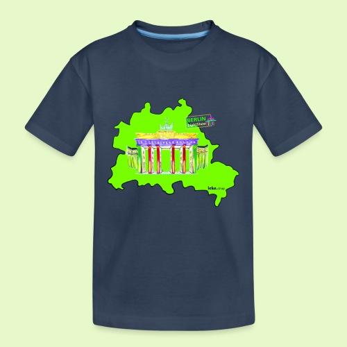 Berlin ist grün und bunt / BerlinLightShow - Teenager Premium Bio T-Shirt
