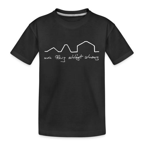 mein Herz schlägt schwarz - Teenager Premium Bio T-Shirt
