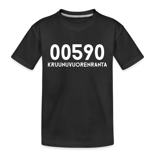 00590 KRUUNUVUORENRANTA - Teinien premium luomu-t-paita