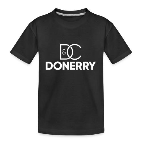 DONERRY New White Logo on Dark - Teenager Premium Organic T-Shirt