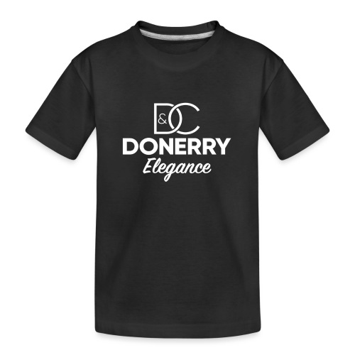 Donerry Elegance NEW White on Dark - Teenager Premium Organic T-Shirt