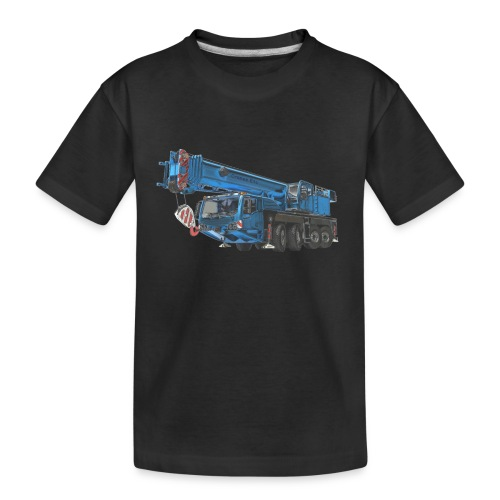 Mobile Crane 4-axle - Blue - Teenager Premium Organic T-Shirt