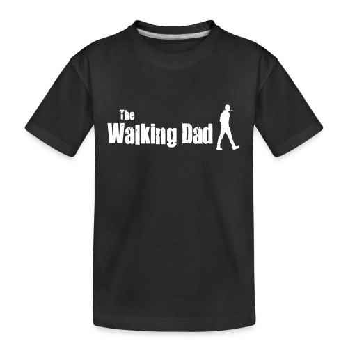 the walking dad white text on black - Teenager Premium Organic T-Shirt