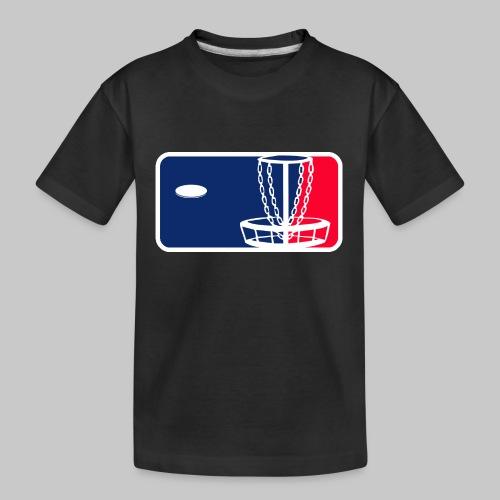 Major League Frisbeegolf - Teinien premium luomu-t-paita