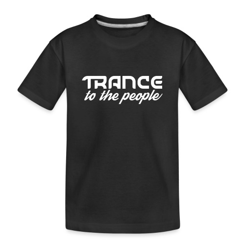 Trance to the People Hvidt Logo - Teenager premium T-shirt økologisk