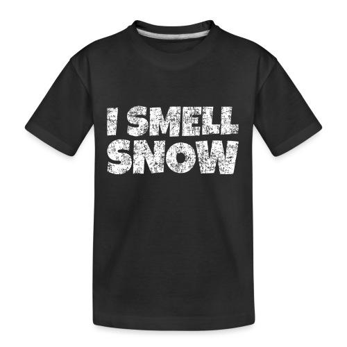 I Smell Snow Schnee, Weihnachten & Wintersport - Teenager Premium Bio T-Shirt