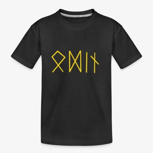 Odin in Runen - Teenager Premium Bio T-Shirt