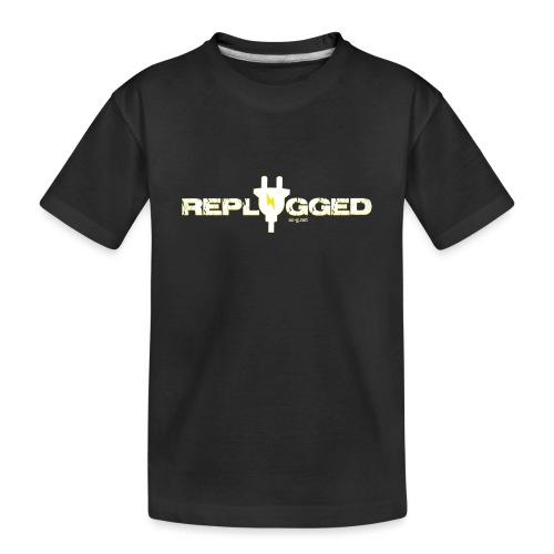Replugged - Clip Art White - Teenager Premium Organic T-Shirt