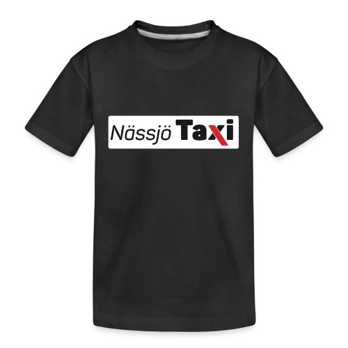 Nässjö taxi tryck - Ekologisk premium-T-shirt tonåring
