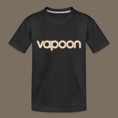 Vapoon Logo simpel 2 Farb - Teenager Premium Bio T-Shirt