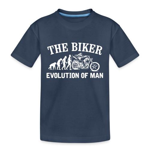Evolution of man - Camiseta orgánica premium adolescente