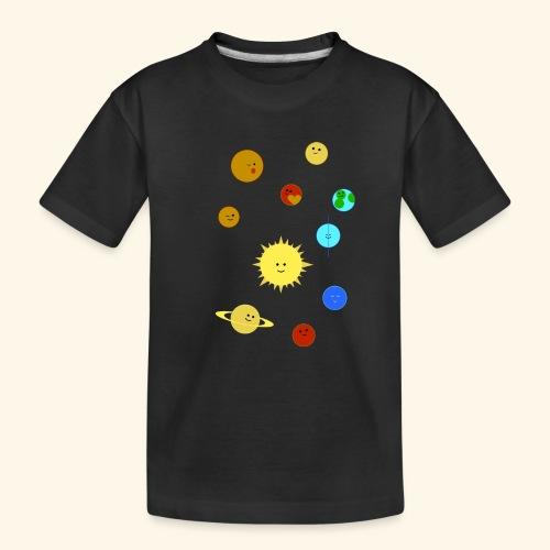 Solsystemet - Ekologisk premium-T-shirt tonåring