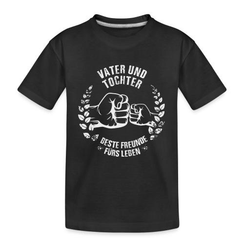 Vater und Tochter Beste Freunde fürs Leben - Teenager Premium Bio T-Shirt