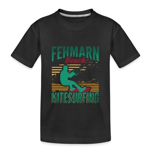 Kitesurfing Fehmarn - Teenager Premium Bio T-Shirt