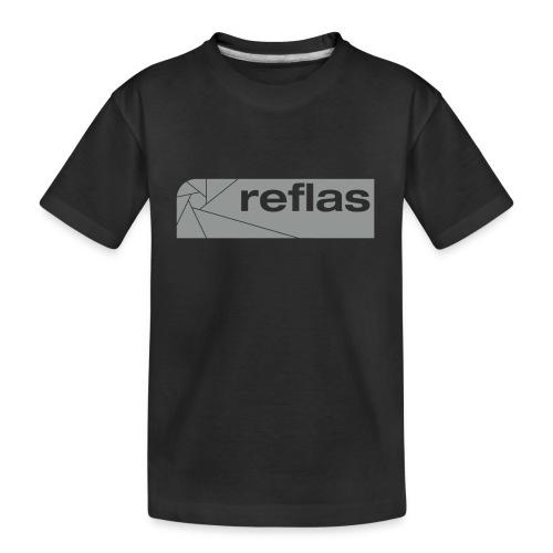 Reflas Clothing Black/Gray - Maglietta ecologica premium per ragazzi