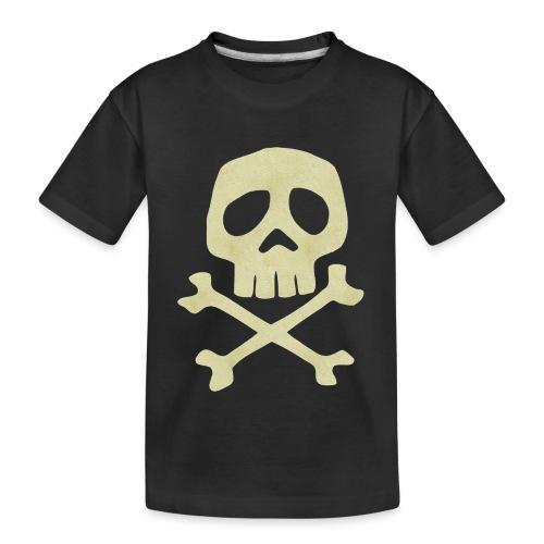 Danzig Style Captain Harlock Skull Crossbones / Jo - Teenager Premium Organic T-Shirt
