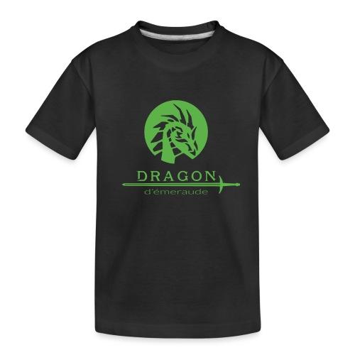 dragon d'émeraude vert - T-shirt bio Premium Ado