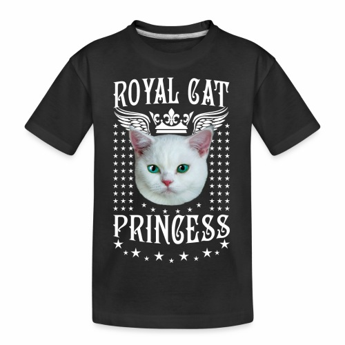 26 Royal Cat Princess white feine weiße Katze - Teenager Premium Bio T-Shirt
