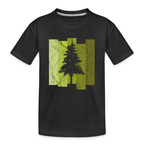 Woid4tla Retro Linien - Teenager Premium Bio T-Shirt