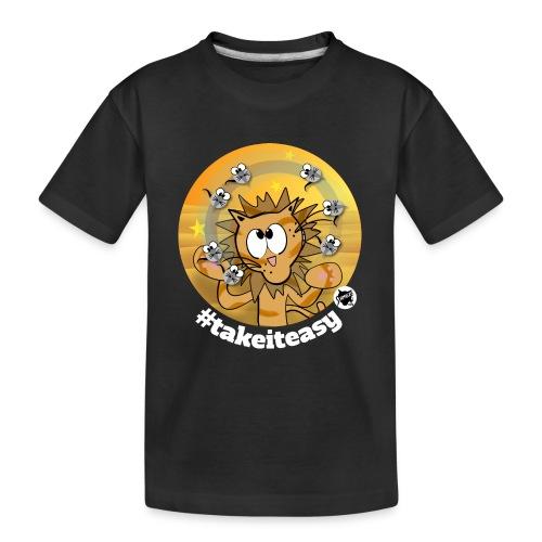 Astrokatze Löwe - Teenager Premium Bio T-Shirt