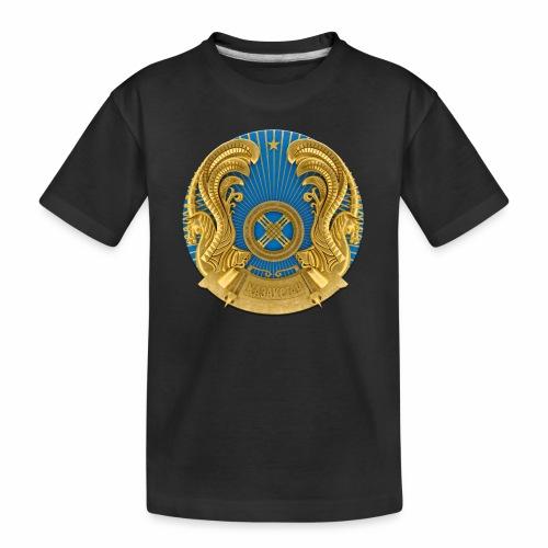 Kasachstan Казахстан Герб Wappen T-Shirts 2c - Teenager Premium Bio T-Shirt