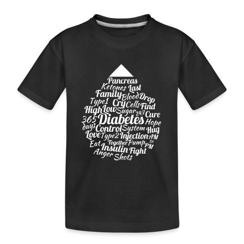 CURE DIABETES - Teenager Premium Organic T-Shirt