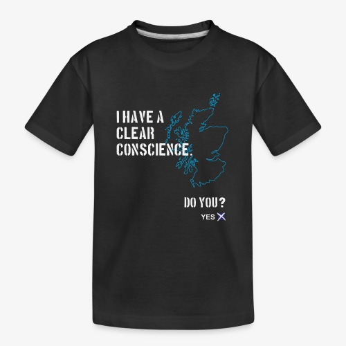 Clear Conscience - Teenager Premium Organic T-Shirt