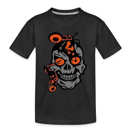 tete mort moto motrocycle oeil skull - T-shirt bio Premium Ado