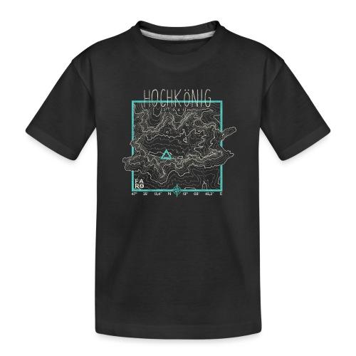 Hochkoenig Contour Lines - Square - Teenager Premium Organic T-Shirt