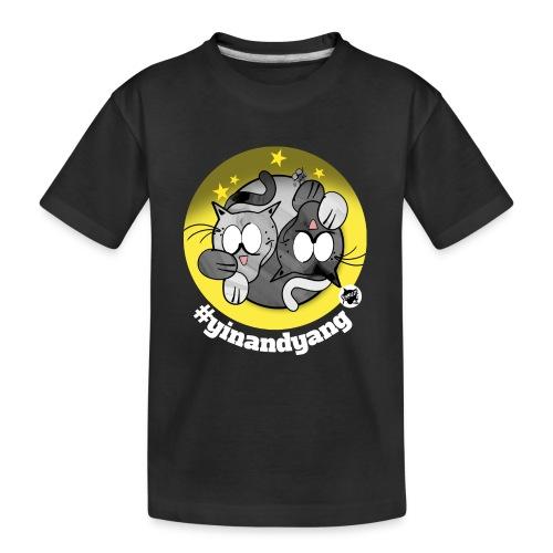 Astrokatze Zwillinge - Teenager Premium Bio T-Shirt