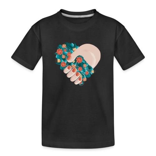 Ich verbinde mich mit der Natur - Teenager Premium Bio T-Shirt