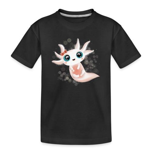 Baby Axolotl mit grossen Kulleraugen - Teenager Premium Bio T-Shirt