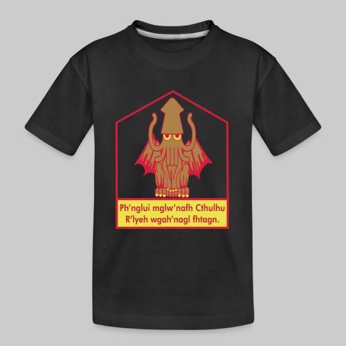Cthulhu träumt in seinem Haus in R'lyeh - Teenager Premium Bio T-Shirt