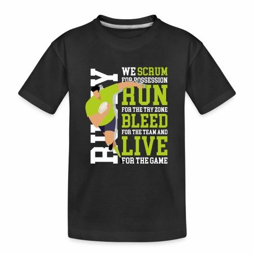 MarPlo Scrum Run Live whiteGreen - Maglietta ecologica premium per ragazzi